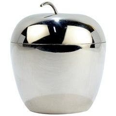 Vintage Figural J. E. Caldwell Apple Shaped Sterling Silver Covered Box