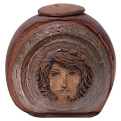 Vintage Figural Studio Stoneware Vase / Candleholder