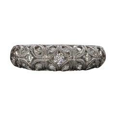 Vintage Filigree White Diamond Band Ring