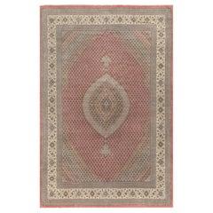 "Vintage Fine Persian Tabriz Wool and Silk Rug, 12'9"" x 19'4""."