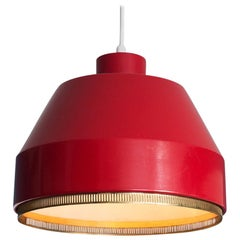 Vintage Finnish 1941 Aino Aalto Pendant Light Model AMA500 in Red
