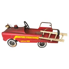 Vintage Fire Engine Toy Pedal Car with Ladders
