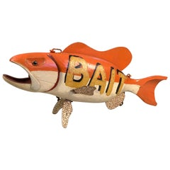 Vintage Fish Bait Trade Sign