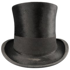 Vintage FISHER & CO. San Francisco Black Silk Melusine Top Hat