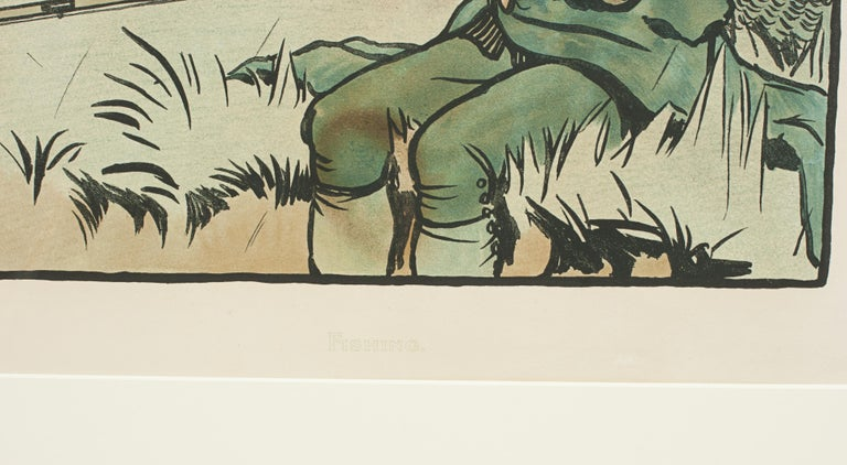 British Vintage Fishing Print by Cecil Aldin For Sale
