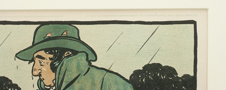 Paper Vintage Fishing Print by Cecil Aldin For Sale
