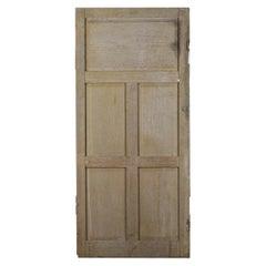 Vintage Five Panel Pine Interior Door, 20th Century