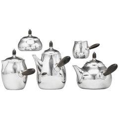 Vintage Five-Piece Georg Jensen Tea Service 80