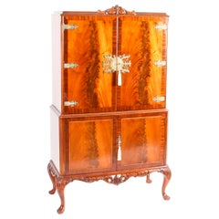 Vintage Flame Mahogany Dry Bar Cocktail Cabinet Drinks Midcentury
