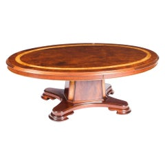 Vintage Flame Mahogany Oval Coffee Table by Charles Barr, 20th Century