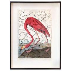 Vintage Flamingo Print Butterfly Box