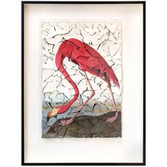 Vintage Flamingo Print Butterfly Box