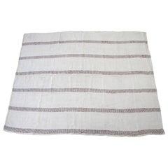 Vintage Flat-Weave Hemp Turkish Rug