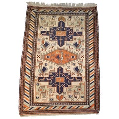 Vintage Flat-Weave Persian Karajeh Tribal Rug or Carpet