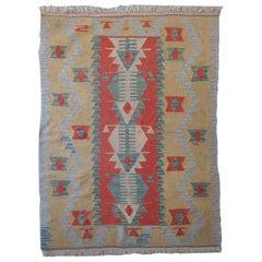 Vintage Flat-Weave Rug