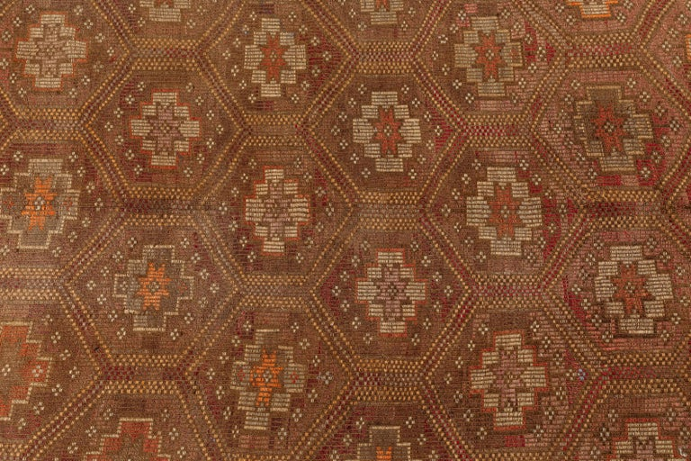 Vintage Flat-Weave Turkish Jajim from Mersin Mut In Good Condition For Sale In Los Angeles, CA