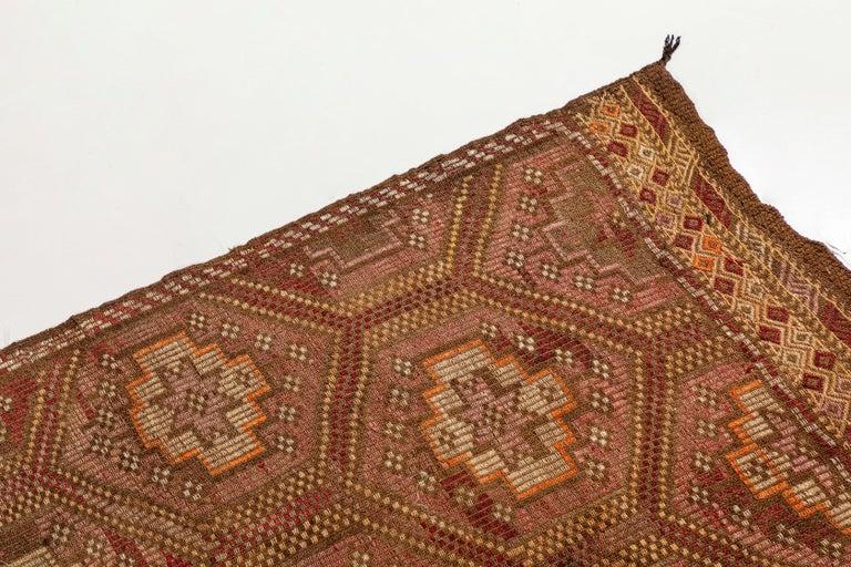 20th Century Vintage Flat-Weave Turkish Jajim from Mersin Mut For Sale