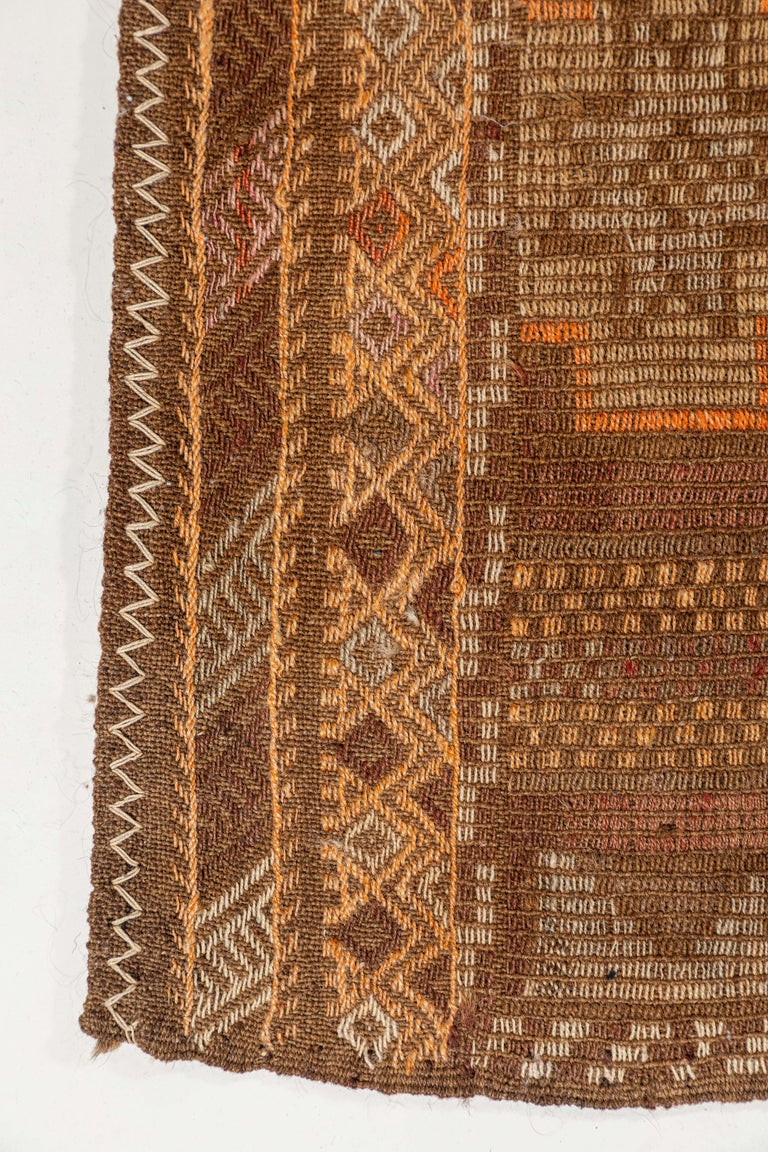 Wool Vintage Flat-Weave Turkish Jajim from Mersin Mut For Sale