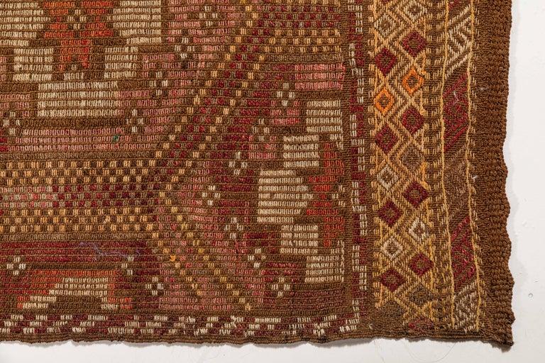 Vintage Flat-Weave Turkish Jajim from Mersin Mut For Sale 1
