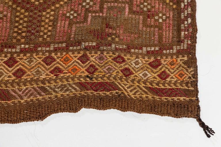 Vintage Flat-Weave Turkish Jajim from Mersin Mut For Sale 2