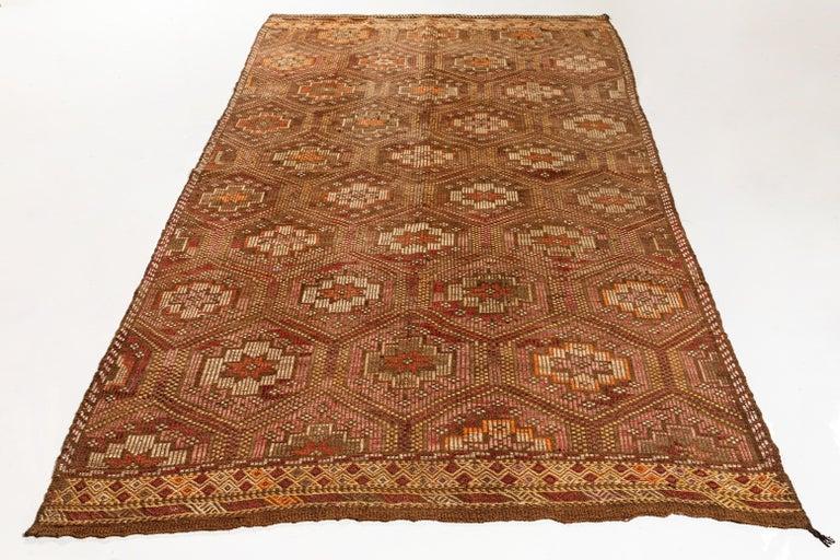 Vintage Flat-Weave Turkish Jajim from Mersin Mut For Sale 3