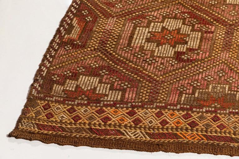 Vintage Flat-Weave Turkish Jajim from Mersin Mut For Sale 4