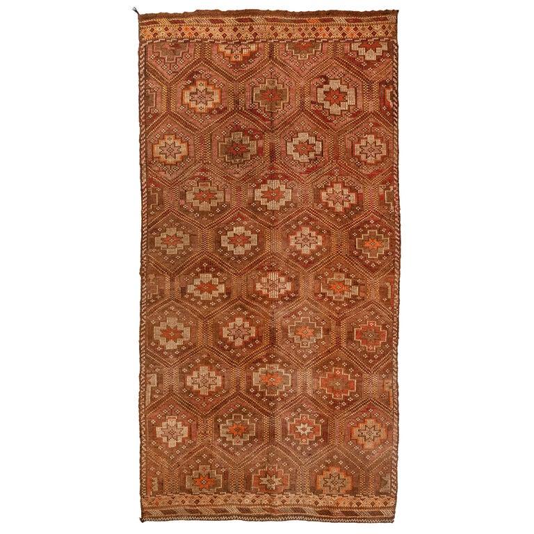 Vintage Flat-Weave Turkish Jajim from Mersin Mut For Sale