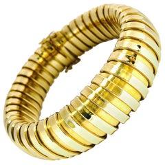 Vintage Flexible Italian Gold Bracelet