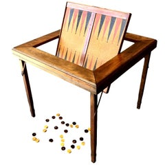 Vintage Flip-Top Backgammon Table