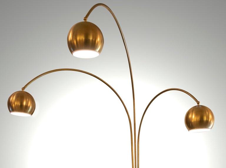 Brass Vintage Floor Lamp by Goffredo Reggiani, 1970s For Sale