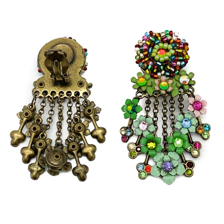 Women's Vintage Floral Cascade Earrings For Sale