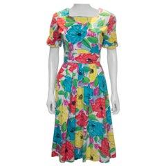 Vintage Floral Cotton Summer Dress