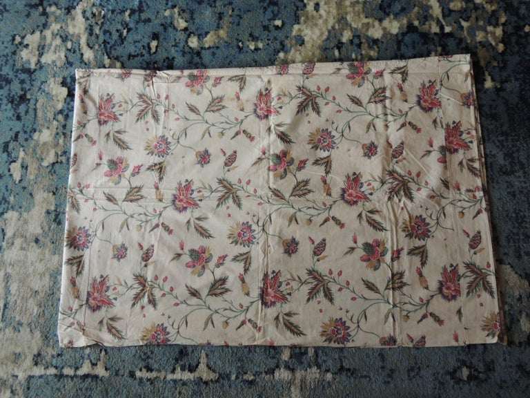 Vintage floral printed textile panel