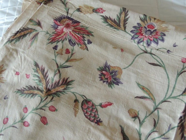 Country Vintage Floral Printed Textile Panel For Sale