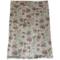 Vintage Floral Printed Textile Panel