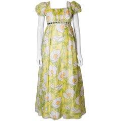 Vintage  Floral Spring Gown