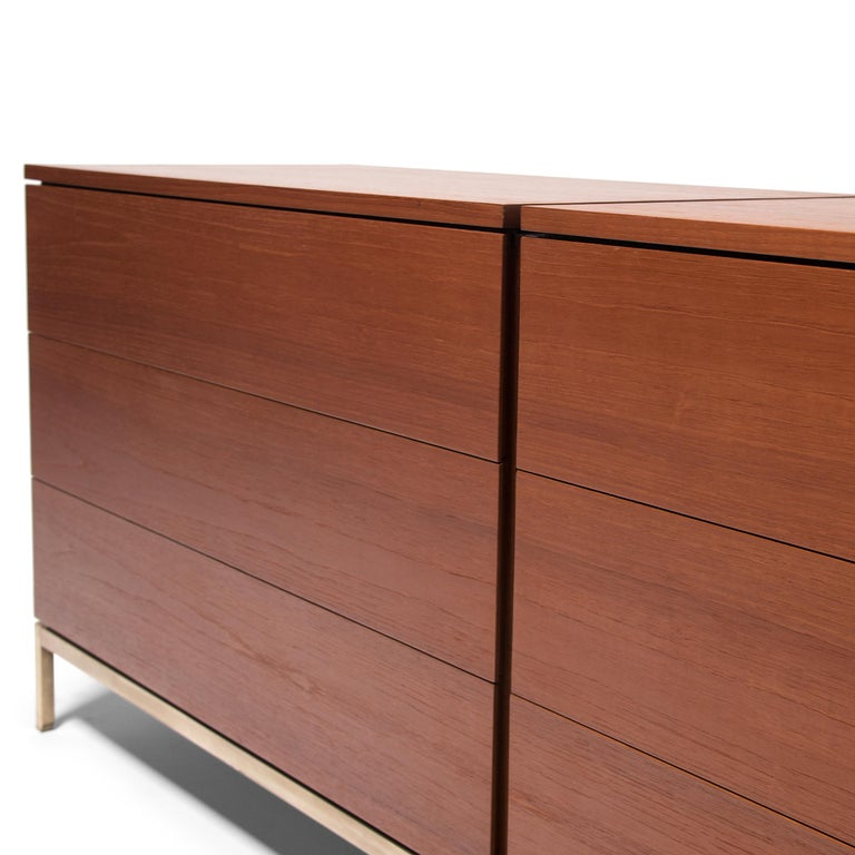 Vintage Florence Knoll Double Chest of Drawers For Sale 1