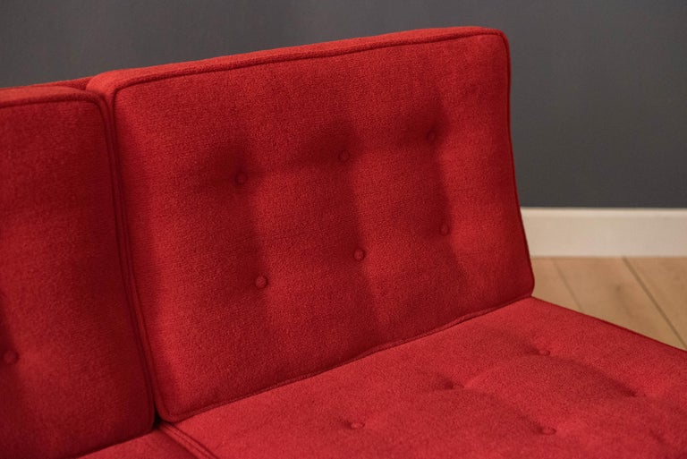 American Vintage Florence Knoll Three-Seat Rosewood Sofa For Sale