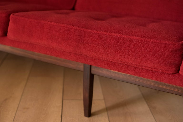 Vintage Florence Knoll Three-Seat Rosewood Sofa For Sale 3