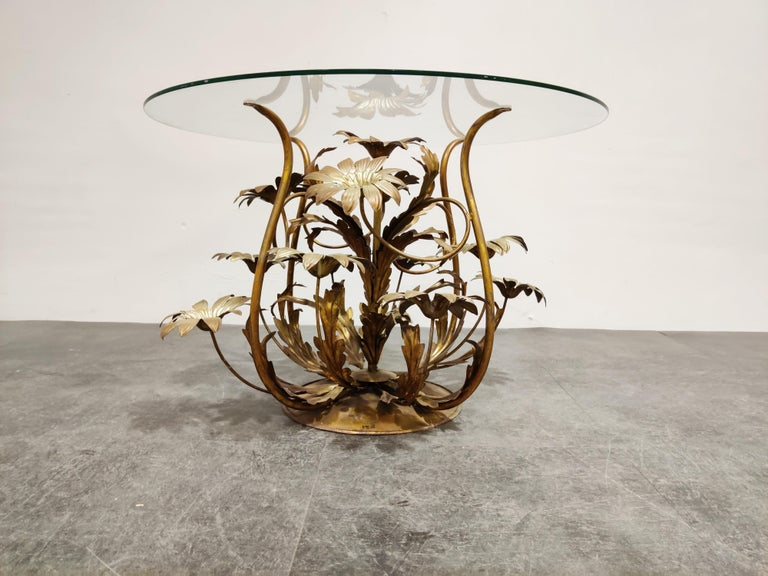 Italian Vintage Flower Coffee Table, Italy, 1960s For Sale