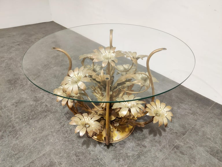 Vintage Flower Coffee Table, Italy, 1960s In Good Condition For Sale In Ottenburg, BE