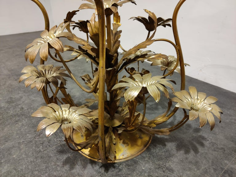 Mid-20th Century Vintage Flower Coffee Table, Italy, 1960s For Sale