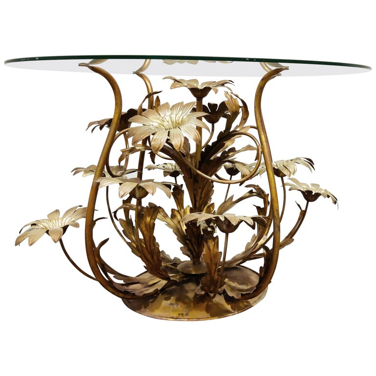 Vintage Flower Coffee Table, Italy, 1960s For Sale