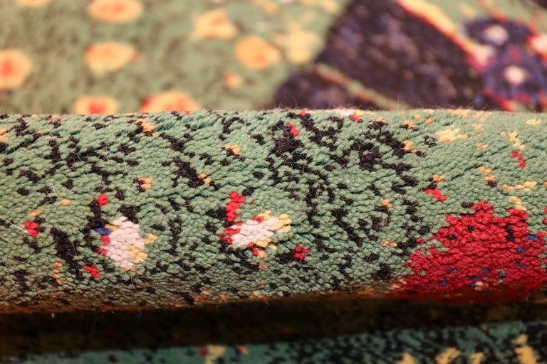 Wool Vintage Flower Garden Design Scandinavian Rug After Gustav Klimt. Size: 6' x 9'  For Sale