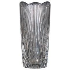 Vintage Flowers Glass Vase, Italy, 1970s