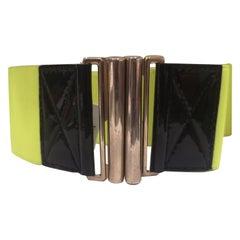 Vintage fluo elastic belt