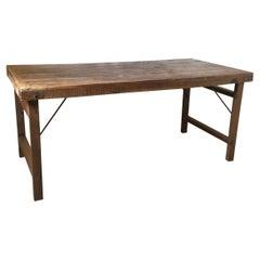 Vintage Folding Farm Table Desk
