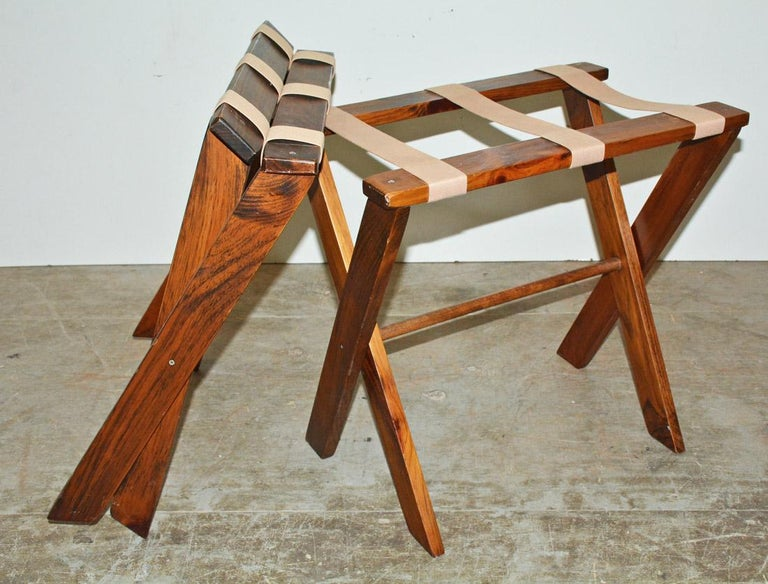 Machine-Made Vintage Folding Luggage Rack, Sold Singly For Sale