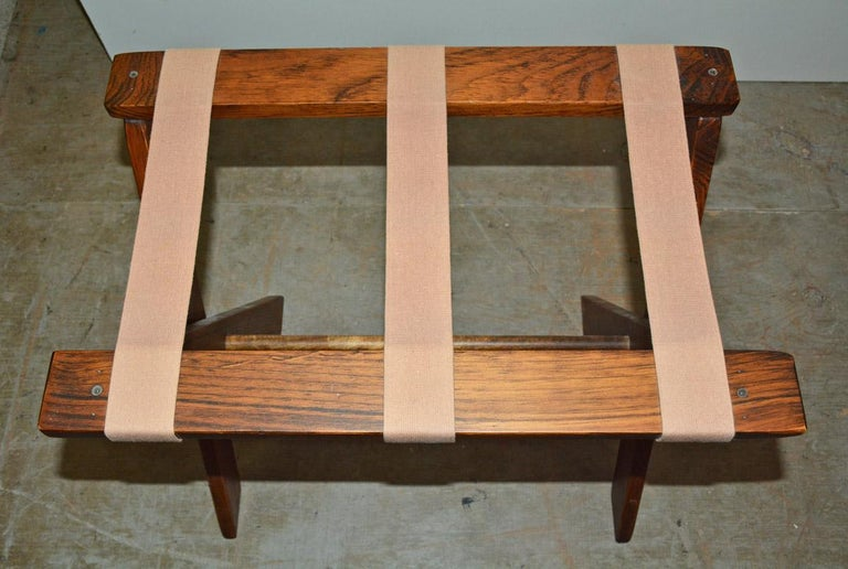 Vintage Folding Luggage Rack, Sold Singly In Good Condition For Sale In Great Barrington, MA