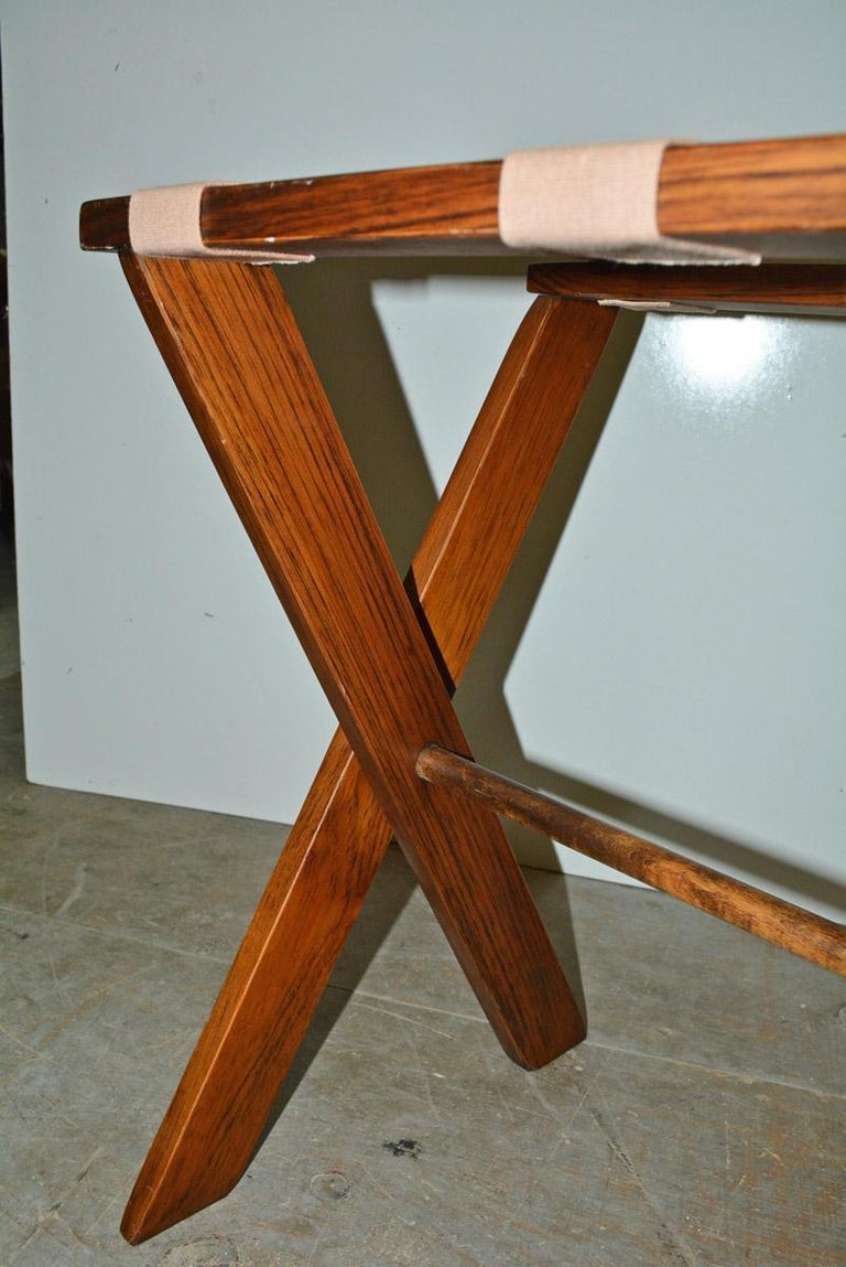 Canvas Vintage Folding Luggage Rack, Sold Singly For Sale